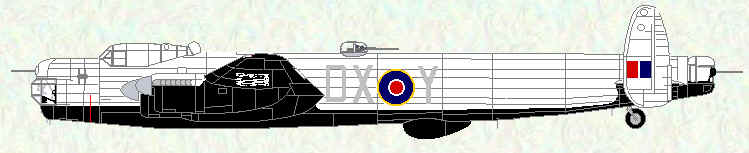 Lincoln B Mk 2 of No 57 Squadron (Tiger Force Colours)
