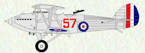Hawker Hart of No 57 Squadron