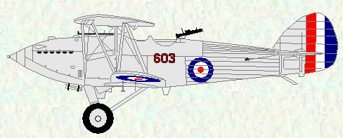 Hawker Hart of No 603 Squadron
