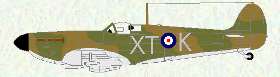 Spitfire I of No 603 Squadron (early markings)