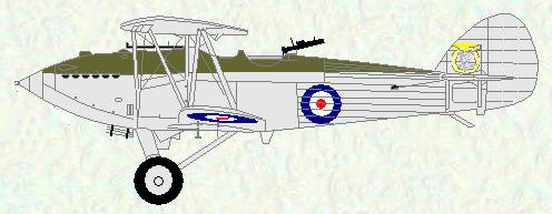 Hawker Hart of No 605 Squadron
