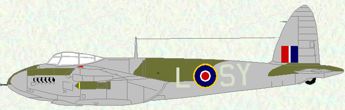 Mosquito VI of No 613 Squadron (standard night fighter scheme)