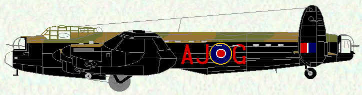 Lancaster III (Special) of No 617 Squadron - (Flown by Wing Commander Guy Gibson during Operation Chastise, May 1943)