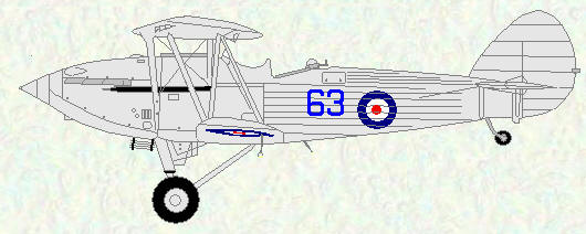 Hawker Hind of No 63 Squadron