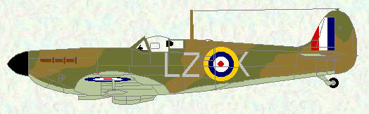 Spitfire I of No 66 Squadron (code LZ)