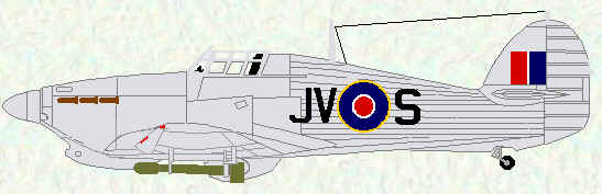 Hurricane IV of No 6 Squadron (post war markings)