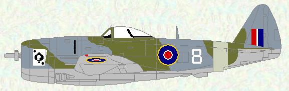Thunderbolt II of No 73 OTU (standard day fighter scheme)
