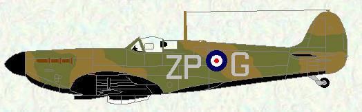 Spitfire I of No 74 Squadron (coded ZP)