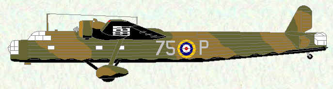 Harrow of No 75 Squadron