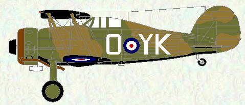 Gladiator II of No 80 Squadron (coded YK)