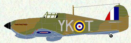 Hurricane I of No 80 Squadron