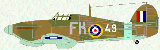 Hurricane IIB of No 81 Squadron