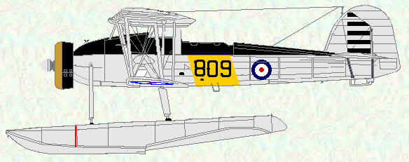 Swordfish I floatplane of No 823 Squadron HMS Glorious 1937 - 1938)