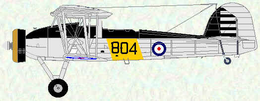 Swordfish I of No 823 Squadron (HMS Glorious 1938)