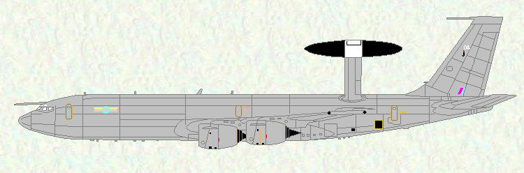 Sentry AEW Mk 1 of No 8 Squadron, used by No 54 SQuadron to train crews