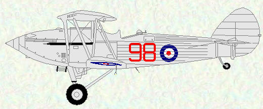 Hawker Hind of No 98 Squadron