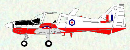 Bulldog T Mk 1 - red/white trainer scheme