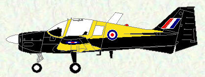 Bulldog T Mk 1 - final black/yellow trainer scheme