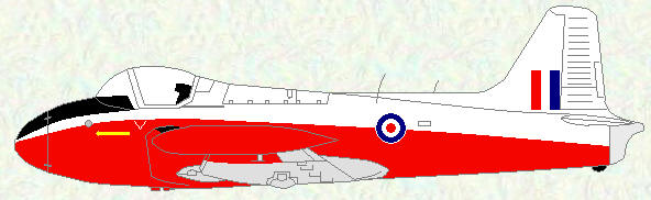 Jet Provost T Mk 3/3A - final red/white/grey scheme