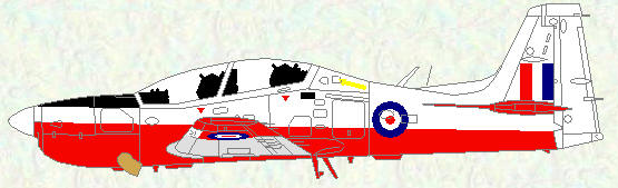Tucano T Mk 1 - original red/white/grey scheme