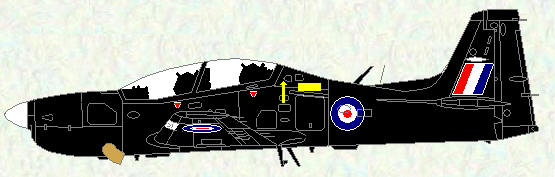 Tucano T Mk 1 - all black scheme