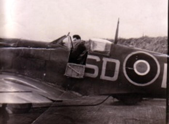 Spitfire of No 501 Squadron at Kenley