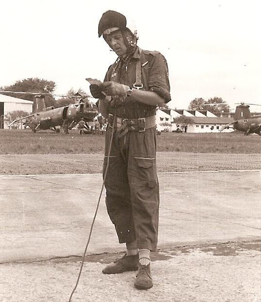 Crewman of No 66 Sqn preparing for a flight 2