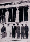 General Scolie (3rd fro right), A/Cdre G W Tuttle (2nd  from right) with Greek PM and other Allied officers in Athens
