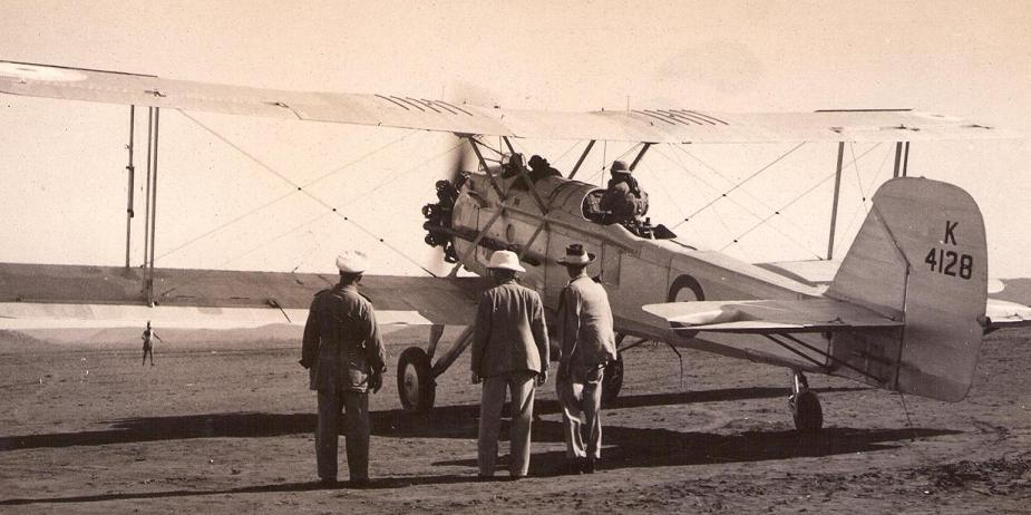 Vickers Vincent of No 8 Sqn, probably taken in Ethiopia in 1936