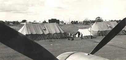 No 82 Sqn tents at Eastleigh in Kenya