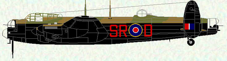 "Lancaster I of No 101 Squadron (fitted with ABC and the Rose-Rice rear turret housing 2 x 0.5"" Brownings)"