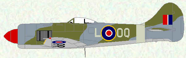 Tempest II of No 5 Squadron (wartime day fighter scheme - 1947)