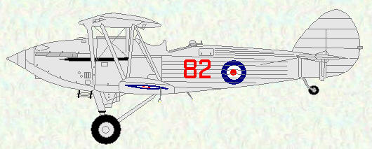 Hawker Hind of No 82 Squadron